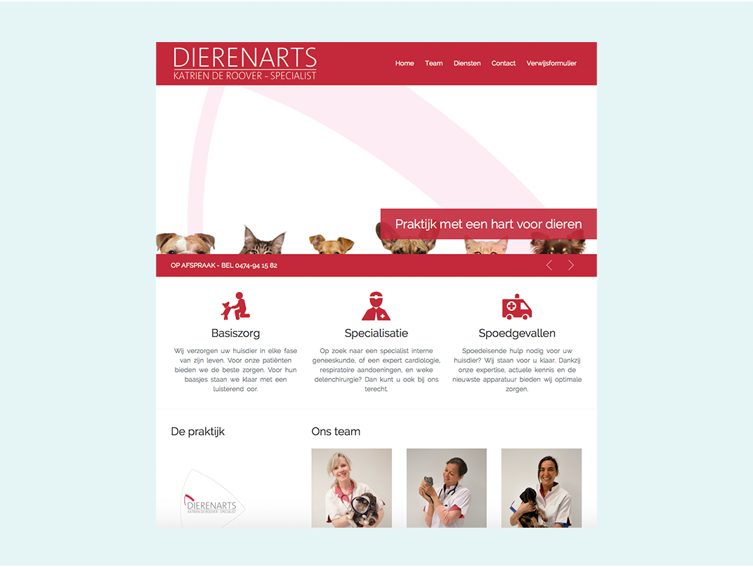 Website dierenartsenpraktijk cover photo